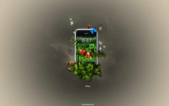 iphone, jungle, apple