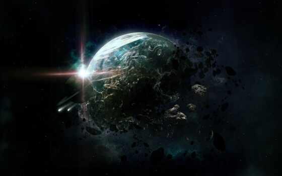 cosmos, planet, звезды, land,