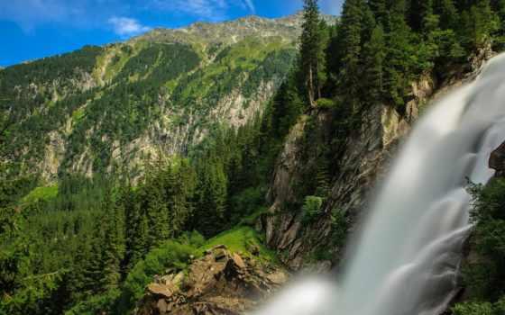 krimml, австрия, waterfalls, альпы, кримль, водопад, are, горы, austrian,