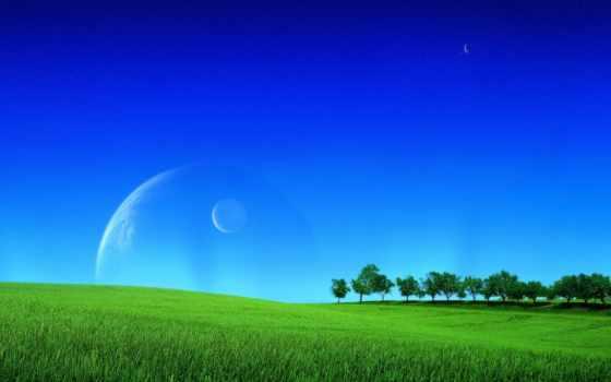 lindas, parede, лугу, зелёный, весна, фон, campo, planetas, природа, papel, blue,