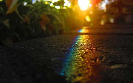 радуга, sun, misscaptianobvi, асфальт, свет, макро, бесплатные, дороги, hardscapes,