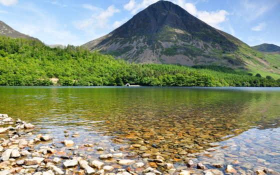 озеро, edge, красивые, фотки, великобритания, national, district,