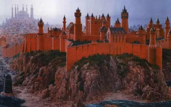 фэнтези, книгам, иллюстрации, fortress, замки,