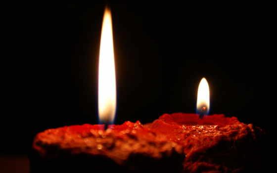 свечи, огонь, часть