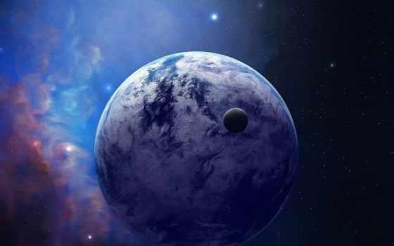 cosmos, planet, звезды, спутник, nebula, космосе, спутником,