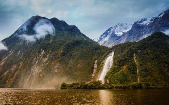 milford, sound, bowen, new, zealand, река, саунд, lady, новая,