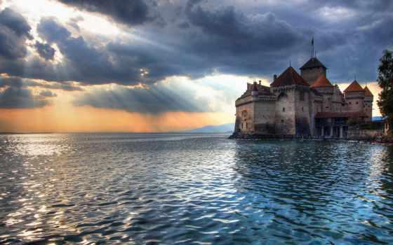 castle, swiss, chillon, который