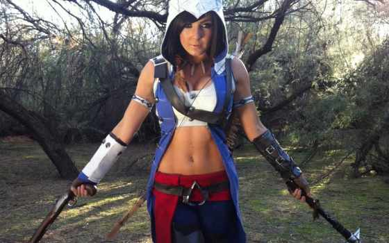 creed, cosplay, assassin, assassins, sexy, купальники