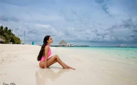 vacation, motta, brunette, дэнис, angelina, бикини, caribbean, strand, пляж