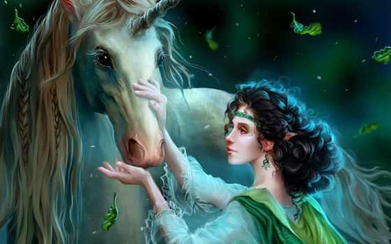 fantasy, unicorn
