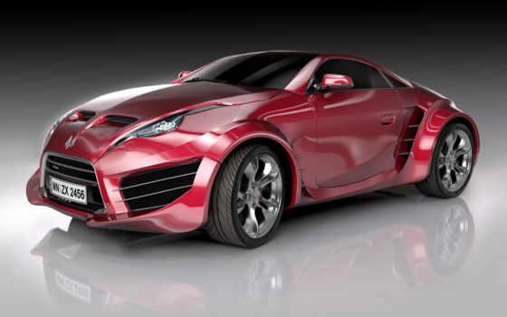 спортивная машина вишнёвого цвета