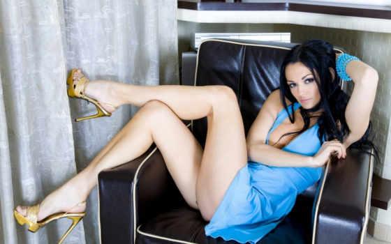 платье, ножки, голубое