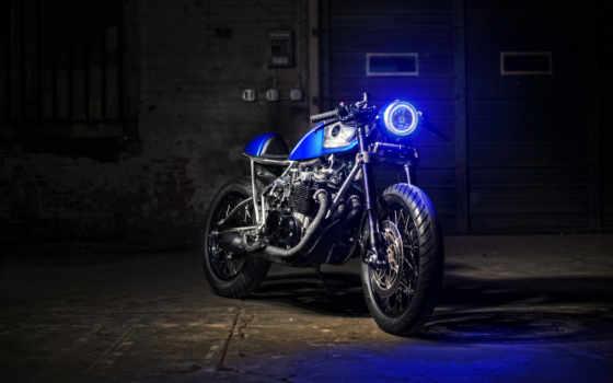 мотоцикл, honda, мотоциклы, bike, голубой, cb, девушка, ретро,