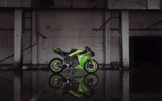 зелёный, yamaha, yzf, bike, мотоцикл, зелёная, building, увеличить, alcatel, profile,