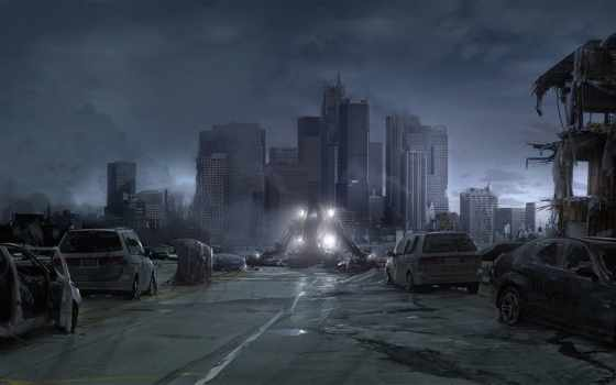 desktop, робот, you, download, city, architecture, cities, world, war, будущее, катастрофа, worlds, разрушен, запустение,