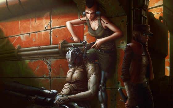 fantasy, robot, киборг