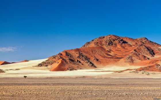 горы, пустыня, песок