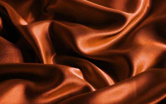 текстура, ткань, фон, обои, шелк, атлас, оранжевый