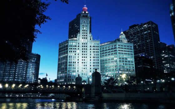 города, chicago, площадь