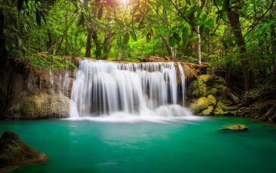 красивые, природа, водопад, места, лес, самые, jungle, tropics, горы,