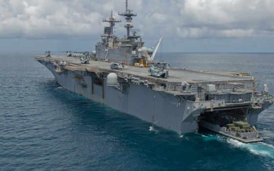 корабль, сша, amphibious, lhd, uss, class, wasp, naval, assault,