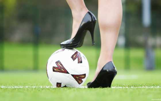 футбол, мяч, девушка