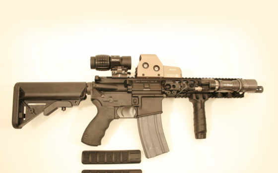 оружие, оптика, автомат, планка пикатинни, фонарь