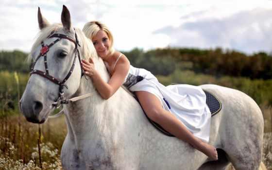 лошадь, девушка, всадник