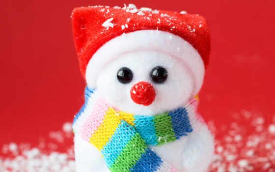 снеговик, снег, шарфик