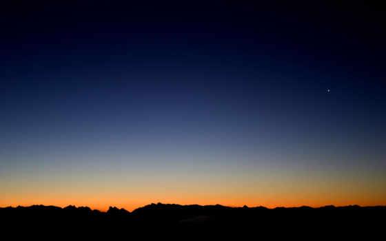 природа, ночь, закат, гора, landscape, zritlf, scenery, облако, озеро, франция