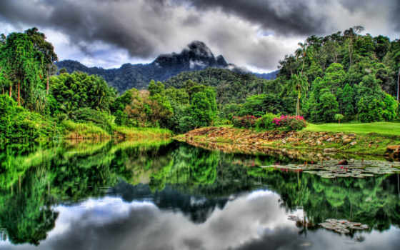 фотографий, горы, река