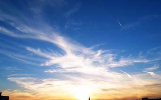 подборка, красивых, небо