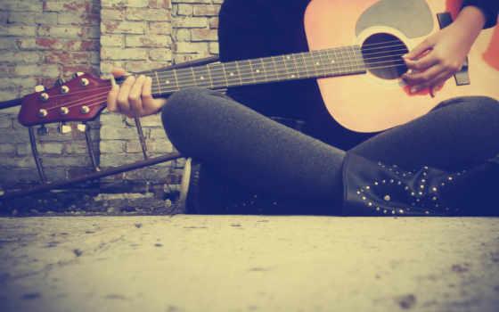 гитара, струны, музыка, рука,