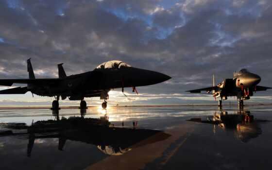 орлан, mcdonnell, plane, douglas, самолёт, военный, strike, реактивный, два, рассвет