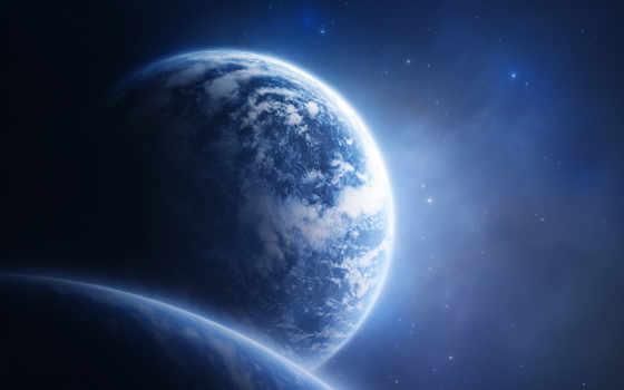 планета, звезды, cosmos, вид,