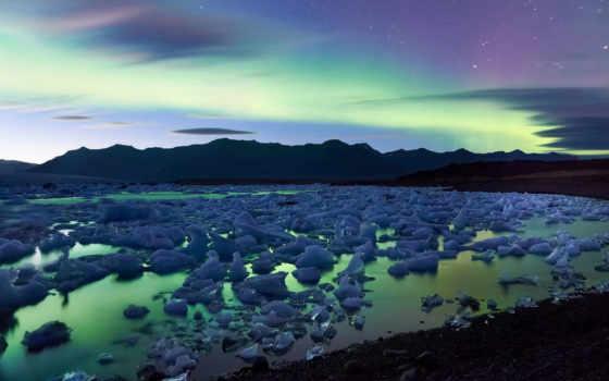 сияние, полярное, природноe, северное, показать, световое,