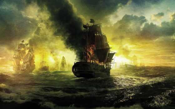caribbean, pirates, black, pearl, stranger, пираты, tides, карибского, корабли, паруса,