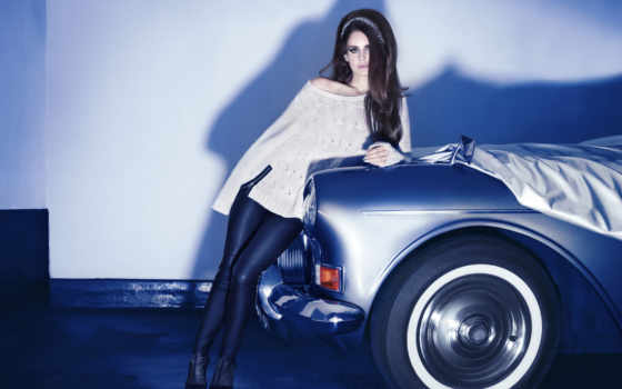 del, ray, lana, rey, brunette, car, singer, leggings, девушка,