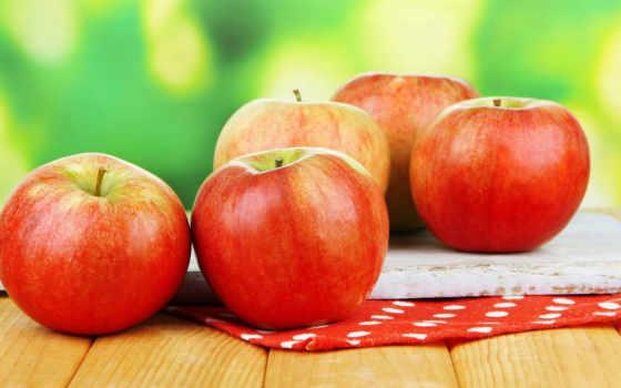 осень, apples, яблоки, урожай, листва,