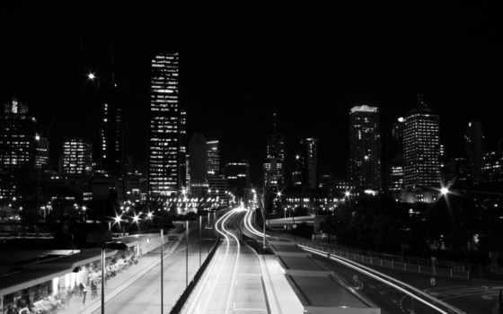 preto, branco, luzes, estrada, parede, cidade, papel, fotos, baixar,