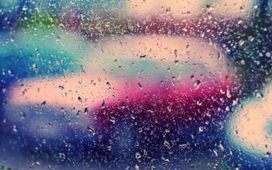 капли, glass, дождь