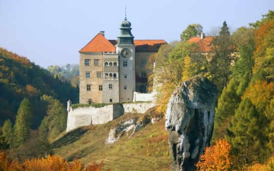 castle, rock, peskov, national, krakov, park, полировка, скала