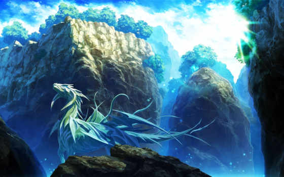 dragon, ice