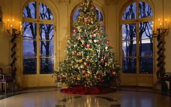год, новый, новогодние, украшения, дом, праздник, елки, елка, новогодней, герлянды,