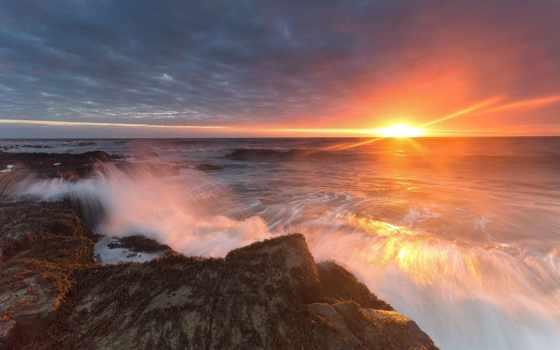 tapety, pulpit, słońca, zachód, zdjęcia, morze, krajobrazy, widoczki,