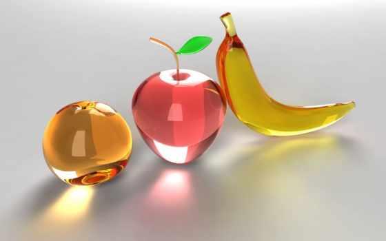 фрукты, графика, стеклянные, назад, gecko, картинку,