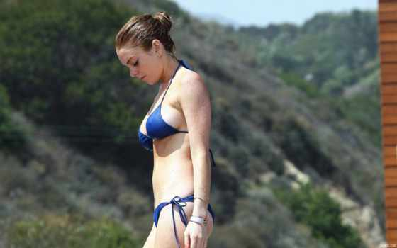 lohan, lindsay, images, hot, boobs, lindsey, cleavage, side,