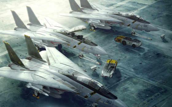 самолёт, истребитель, авианосец