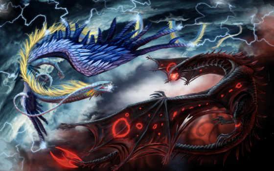 битва, драконы