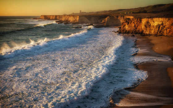 скалы, surf, пляж, волны,